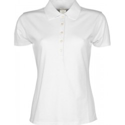 10625 AW - Polo TEE JAYS donna bianca piquet manica corta 215 gr