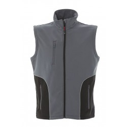 12981 JR Gilet in soft shell a due strati impermeabile