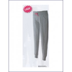 1411 JR - Pantaloni donna in felpa 80% cotone 20% polyester made in Italy