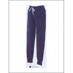 1414 JR - Pantaloni donna in felpa 80% cotone 20% polyester made in Italy