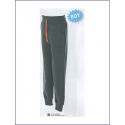 1423 JR - Pantaloni bambino in felpa 80% cotone 20% polyester made in Italy French Terry