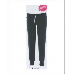 1425 JR - Pantaloni donna in felpa 80% cotone 20% polyester made in Italy French Terry