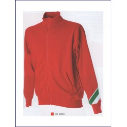 1429 JR - Felpa collo a lupetto zip lunga made in Italy 280 gr