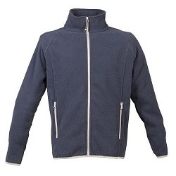 17686 JR - 4XL NAVY pile con zip lunga 280g/m2