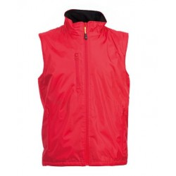 27959JR - Gilet in polyester pongee 200 gr rosso