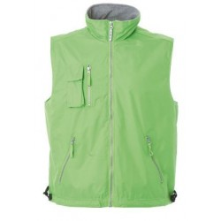 27960 JR - Gilet in polyester pongee light green, light grey