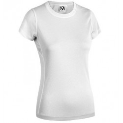 17796  MD - T-Shirt  donna 100% poliestere 125 gr bianco