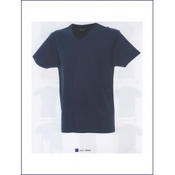 1623 JR - T-shirt collo v con taschino 100% cotone 150 gr