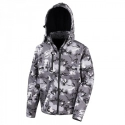 1870 AW - rer235x  Camo TX Performance Hooded Soft Shell Jacket