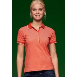 2377 AW - Polo JAMES & NICHOLSON donna piquet manica corta righe a contrasto bicolore 170 gr