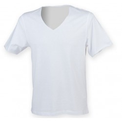 2478 AW - T-shirt SF bianca collo a V 140 gr