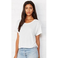 2586 AW - T-shirt BELLA+CANVAS donna bianca 125 gr