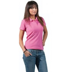 7123 MO - Polo piquet donna colorata maniche corte