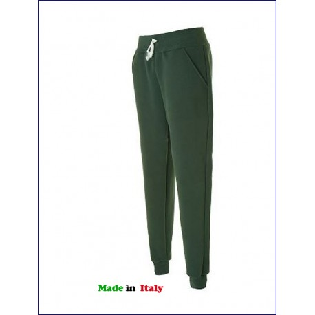 0302 JR - Pantalone vintage in felpa made in italy 320 gr