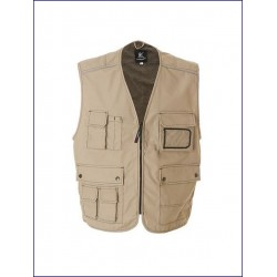 0309 JR - Gilet professional multitasche 65% poliestere 35% cotone canvas