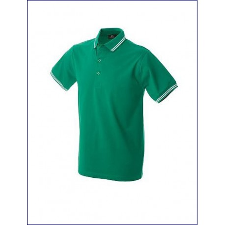 0461 JR - Polo jersey manica corta con doppio piping 200 gr