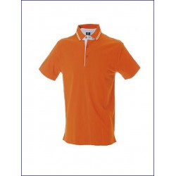 0479 JR - Polo manica corta jersey con rinforzi in oxford 180 gr