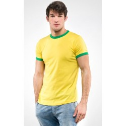 0814 MD - T-Shirt 150 gr collo e fondo maniche in contrasto