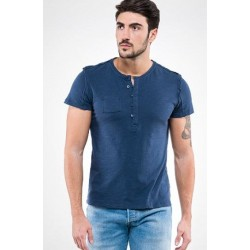 0821 MD - T-Shirt con bottoni e taschino 150 gr