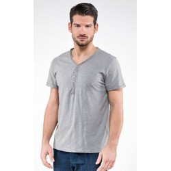 0822 MD - T-Shirt collo v con bottoni 150 gr
