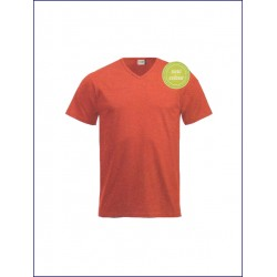 0933 CL - T-shirt collo v manica corta 160 gr
