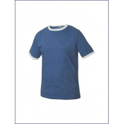 0949 CL - T-shirt manica corta bordatura maniche e colletto in contrasto 160 gr
