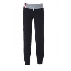 10382 JR - Pantaloni donna in felpa 100% cotone made in Italy