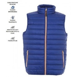 10389 JR - Gilet in nylon morbido e lucido